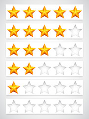 Rating buttons.