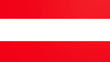 austria national flag constructed from separated elements