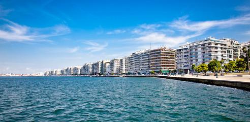 Promenade in Thessaloniki. Greece.