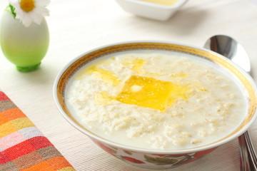 Oat milk porridge