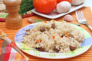 Meat pilaf