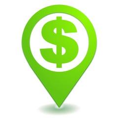 dollar symbole localisation vert