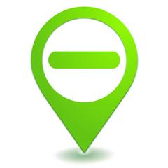 enlever moins sur symbole localisation vert