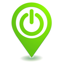 marche arrêt sur symbole localisation vert