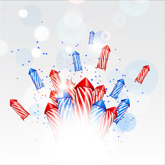 Design new year background with fireworks