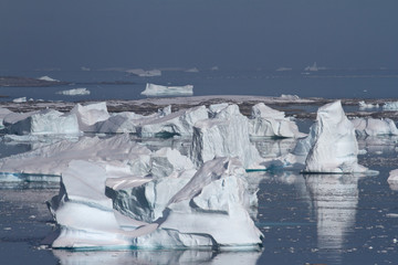 Valley icebergs or cemetery  icebergs near the Antarctic Peninsu