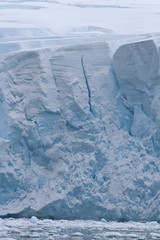 Wall of the continental ice sheet on the Antarctic Peninsula sum