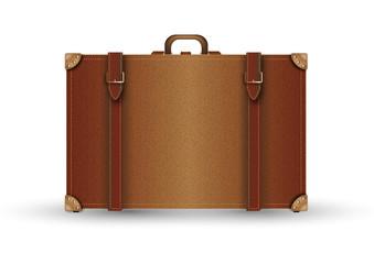 leather suitcase vontage