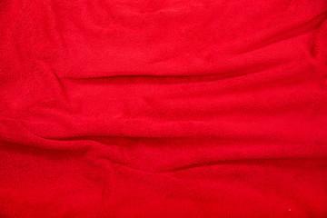 Rotes Betttuch