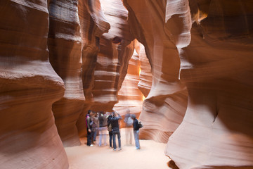 People in Antelope Canyon
