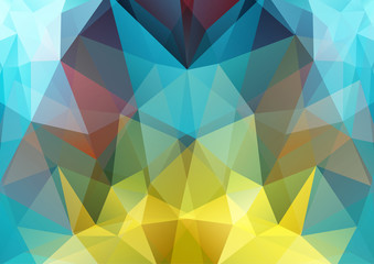 Polygon semi-symmetric background