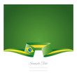 Abstract background Brazilian flag ribbon