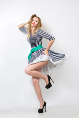 girl in the developing dress. pin up