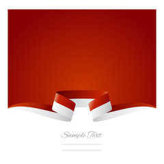 Abstract background Monaco flag ribbon