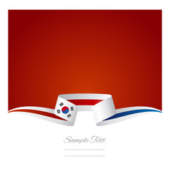 Abstract background Korean flag ribbon
