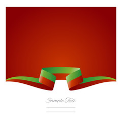 Abstract background Portuguese flag ribbon