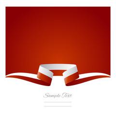 Abstract background Polish flag ribbon