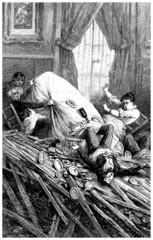 Earthcake - Tremblement de Terre - 19th century