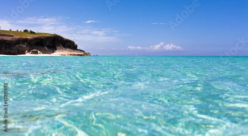 canvas print picture Kuba Küstenlinie von Havanna mittürkisen Wasser