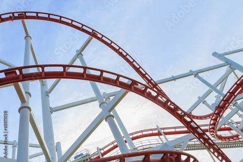 Leinwandbild Motiv loops of rollercoaster b