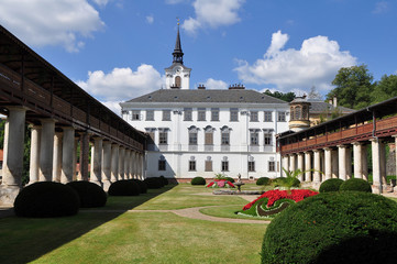 Lysice baroque castle, south Moravia, Czech Republic.