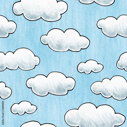 Hand Drawn Cloud Texture