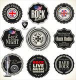 Rock music retro labels