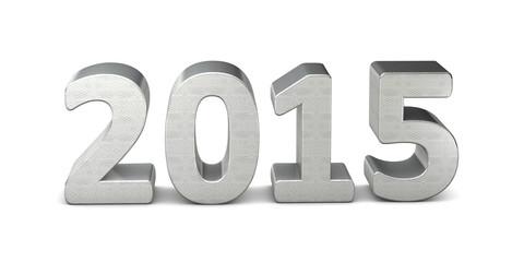 neues jahr new year text silber 2015 3D