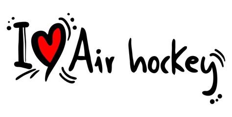 Love air hockey