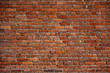 Leinwandbild Motiv the old red brick wall