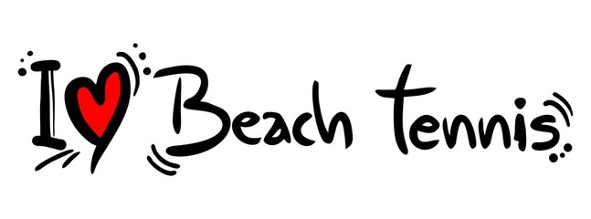 BEach tennis love
