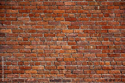 Leinwandbild Motiv the old red brick wall