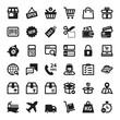 Shopping online flat icons. Black