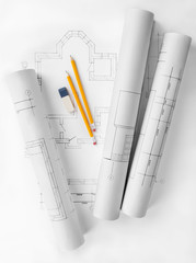 rolls of architecture blueprint