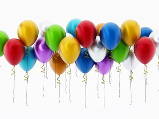 Multi colored party balloons