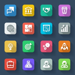 Start up. Flat icons about business