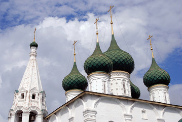 Old beautiful othodox church in Yaroslavl, Russia.
