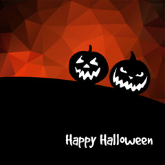 Halloween background, with pumpkins, vector illustration