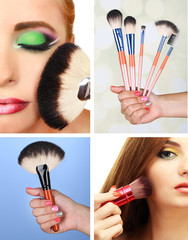 Make-up collage