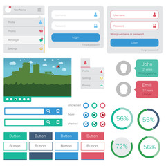 Flat design elements pack