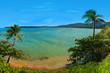 Leinwandbild Motiv Na pali coast, Hawaii