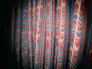 A filtered background photo of an old curtain.
