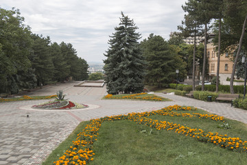 The alley to Lenin Square in Pyatigorsk, Russia
