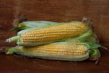young corn cobs