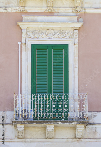 canvas print picture Old siclian window