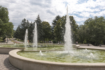 Fountain on Lenin Square in Pyatigorsk, Russia
