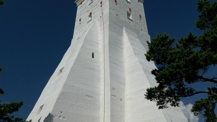 The big body of the white lighthouse in Kopu Estonia GH4 4K UHD