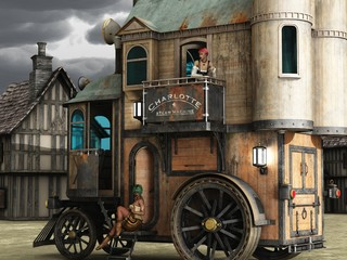 Steampunk mobile bordello