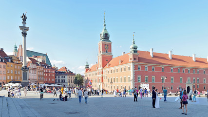 Royal Castle in Warsaw, Poland -Stitched Panorama
