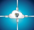cloud computing data base illustration design